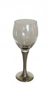 Taça de cristal para VINHO BRANCO, capacidade 160ml com haste de estanho do tipo lisa (P426C18)