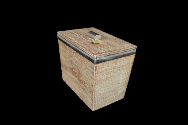 Caixa de Madeira com isopor para gelo (25x15,5x21,5)cm (P331)