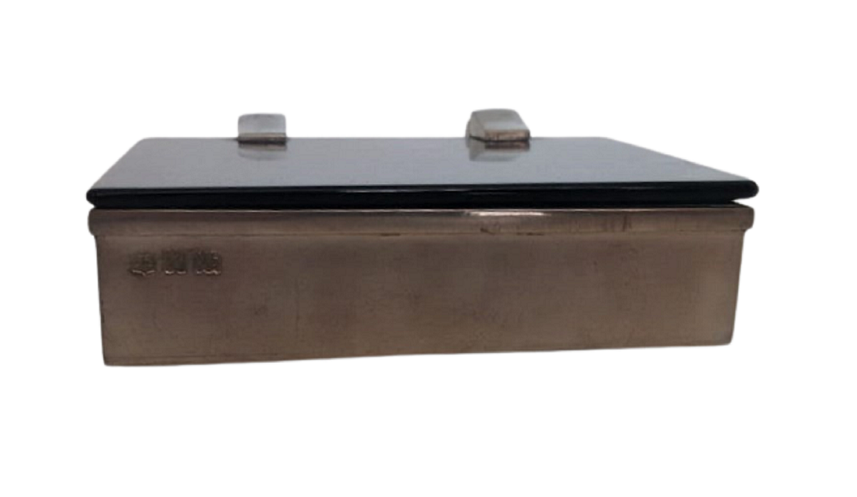 Caixa para cigarros com tampa de ágata preta (P80A-preto)