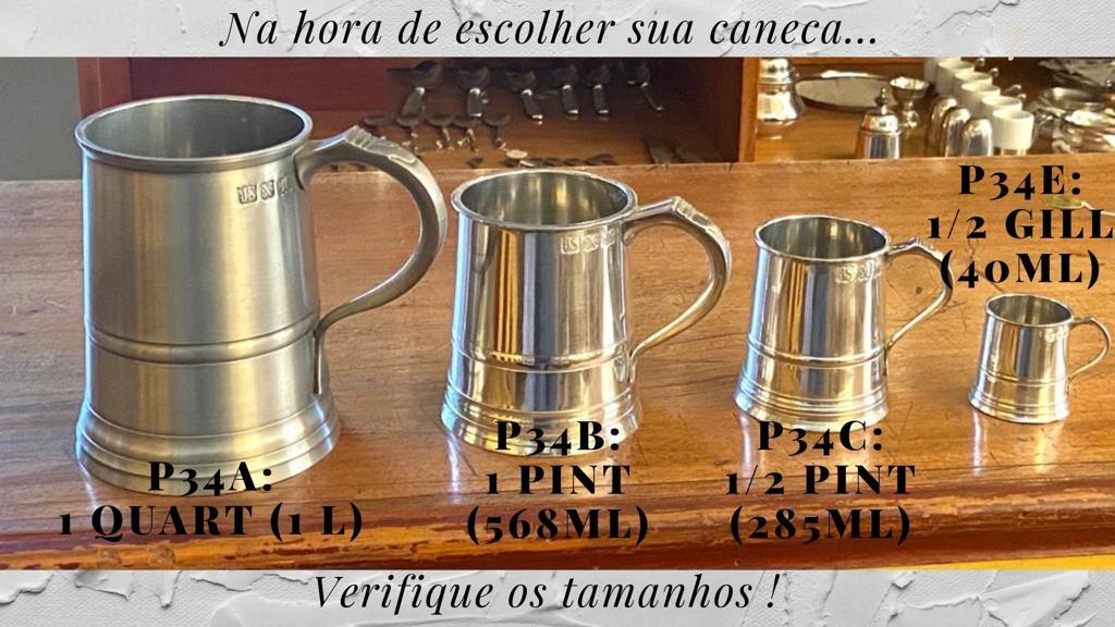 Caneca Inglesa para cachaça ou bebidas similares - 1/2 gill (P34E)