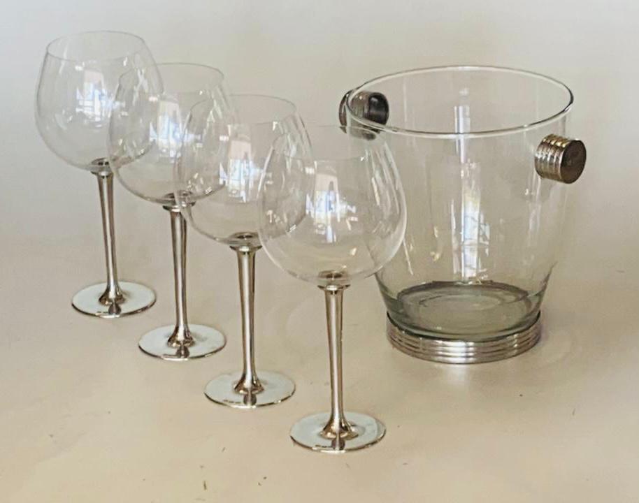 Conjunto de taças de cristal bourgogne especial/gin com 850ml de capacidade e balde de vidro (CNJ052)