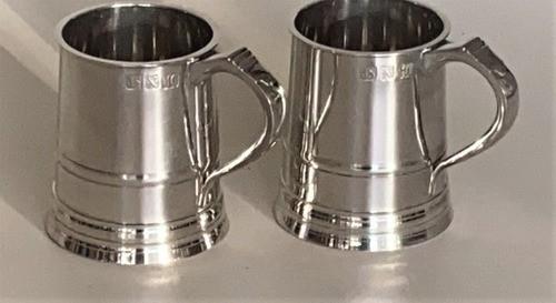 Kit 2 Canecas De Estanho Inglesa Para Cerveja 1 Pint P34b (Kit 2 P34B)