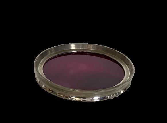 Porta copo com fundo em ágata (P38C)