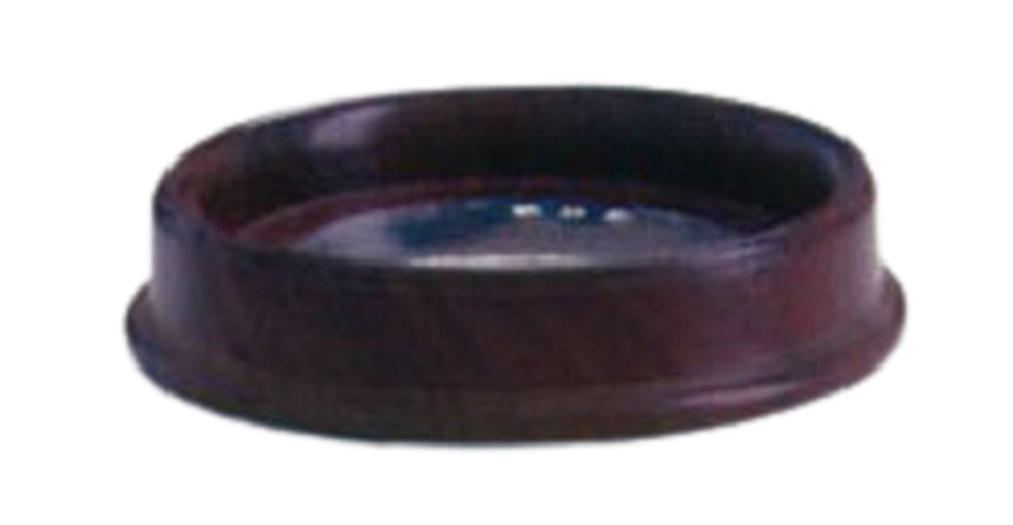 Porta-Copo de mogno e disco de estanho (P342B)