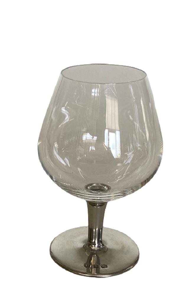 Taça de cristal para COGNAC M, capacidade 450ml com haste de estanho do tipo lisa (P426R18)