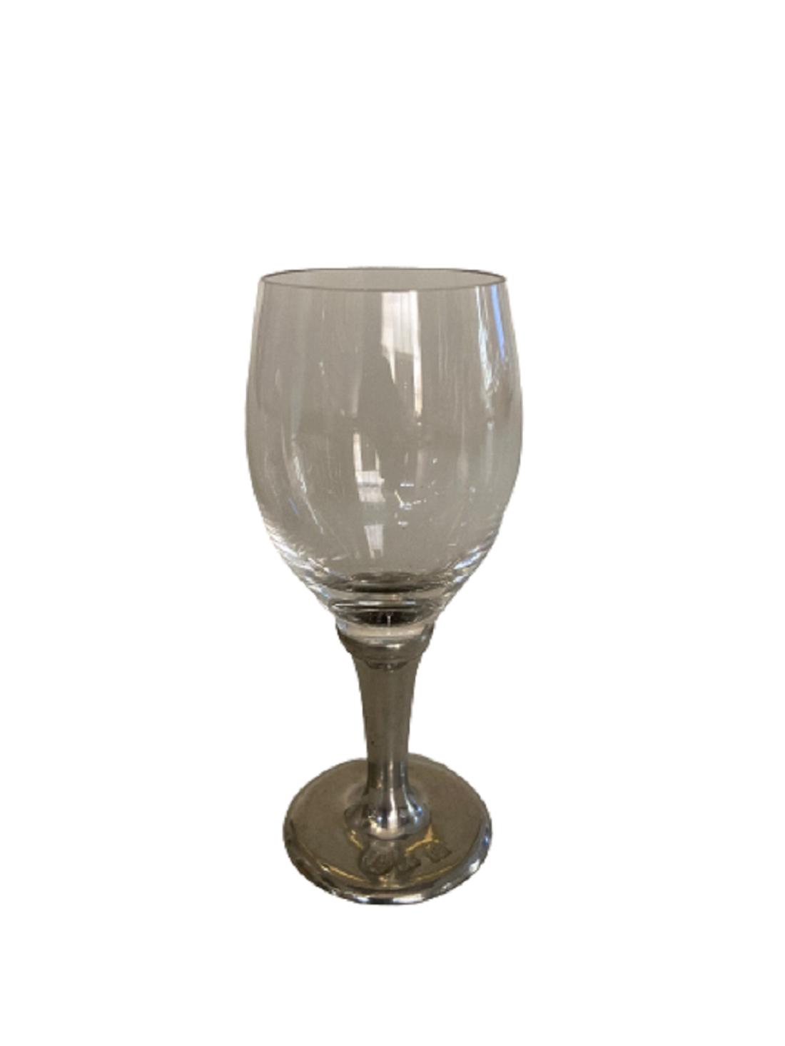 Taça de cristal para LICOR, capacidade 40ml com haste de estanho do tipo lisa (P426E18)
