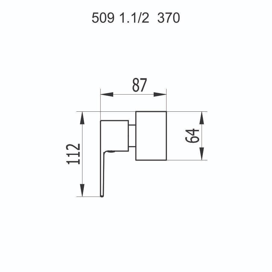 """Acabamento de Registro 1.1/2"""" 509 C370"""