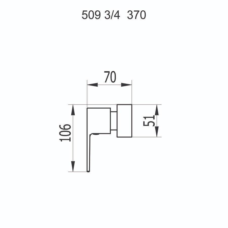 """Acabamento de Registro 3/4"""" 509 C370"""