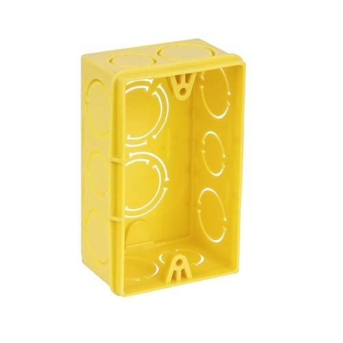 Caixa luz 4x2 Amarela