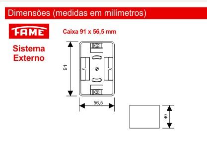 Caixa para Canaletas de 20/40 mm - Sistema Externo Modular