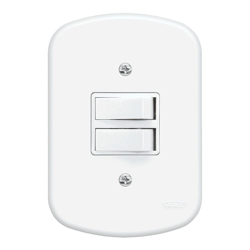 Conjunto 1 Interruptor Simples e 1 Interruptor Paralelo 10A/250V