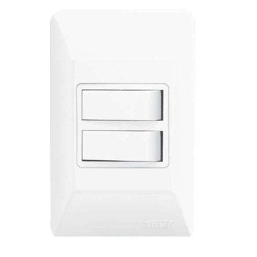 Conjunto 2 Interruptores Simples 10A/250V Sistema Externo