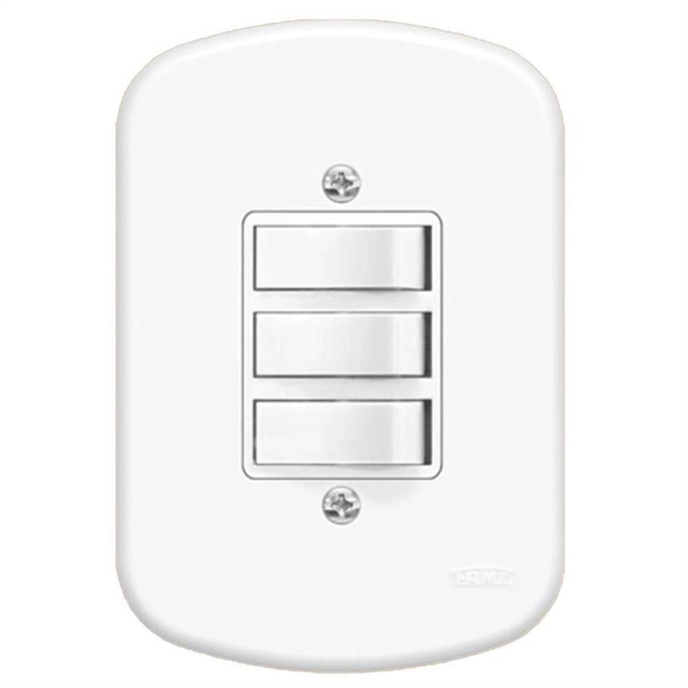 Conjunto 3 Interruptores Paralelos 10A/250V