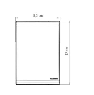 Conjunto 4x2 Interruptor Simples  Liz 10A 250V - Branco