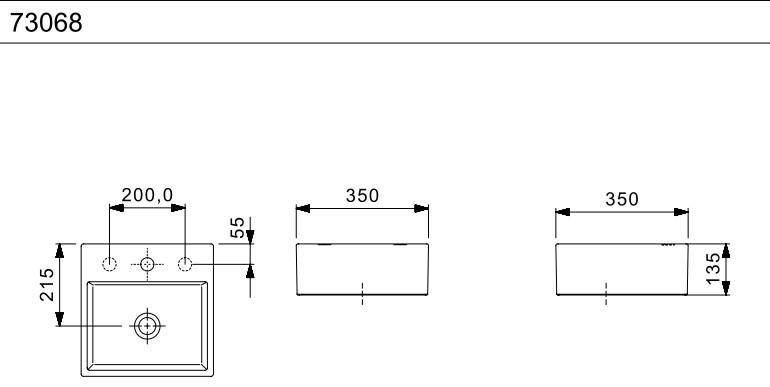 Cuba de Apoio Basic 35x35 Q6 Branca