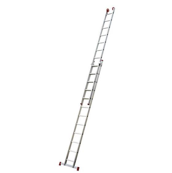 Escada Extensiva Alumínio 12 a 24 degraus