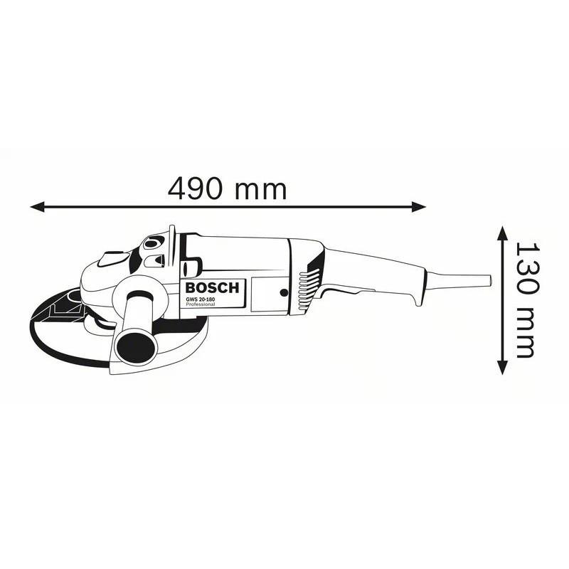 """Esmerilhadeira Angular de 7"""" GWS 20-180 2000W 127V"""