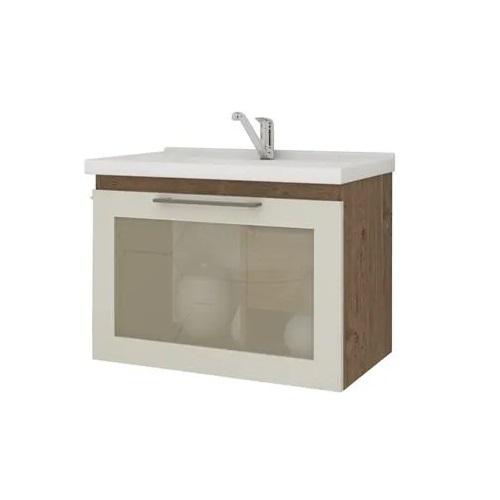 Gabinete Hibisco 60cm - Amêndoa / Off White