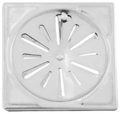 Grelha Quadrada Ref: 2113 10x10 - Metal