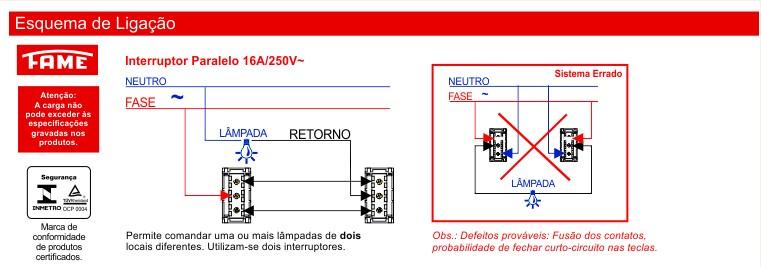 Interruptor Paralelo Horizontal 16A/250V
