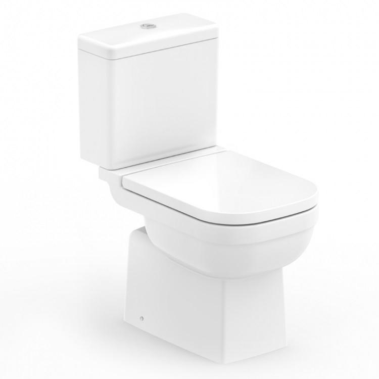 Kit Bacia Elite Com Descarga + Assento + Kit Fixação