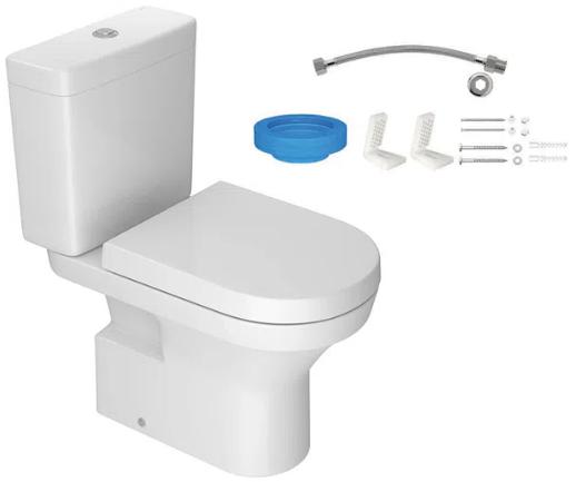Kit Vaso Neo C/ Descarga + Assento + Conj Fixação - Branco