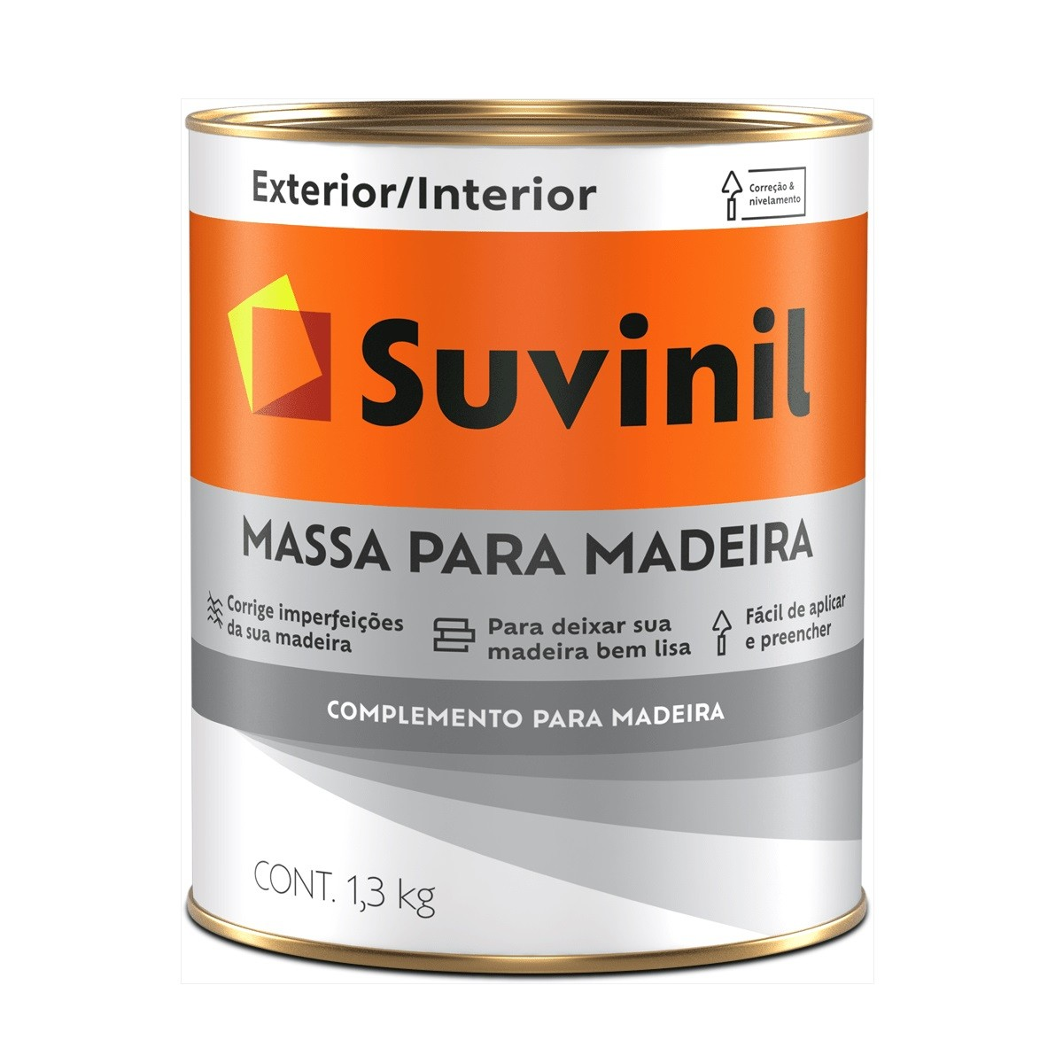 Massa Para Madeira 1,3kg - Branca