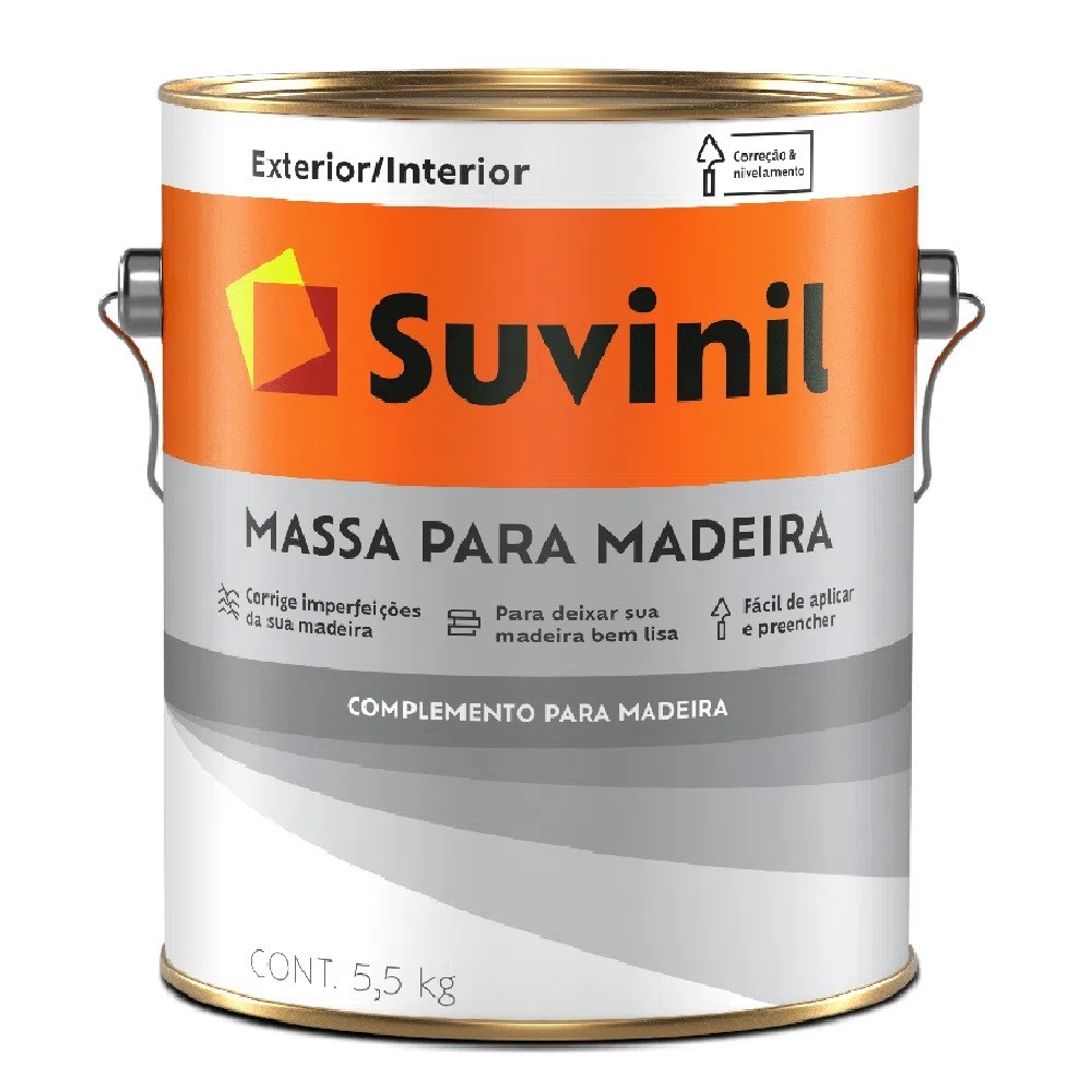 Massa Para Madeira 5,5kg - Branca