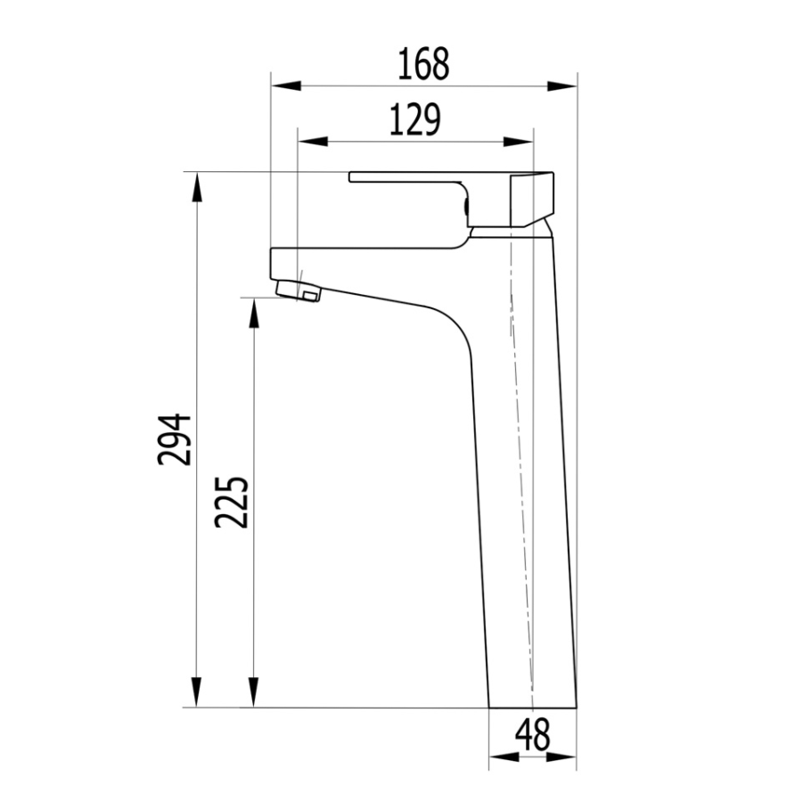 Misturador Monocomando de Mesa Bica Alta para Lavatório - Cromado