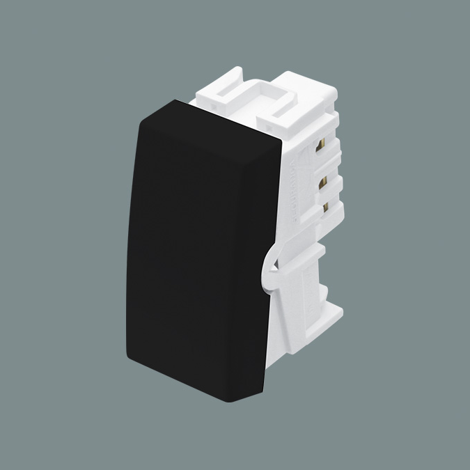 Módulo Interruptor Simples 16A/250V - Preto