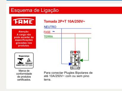 Módulo Tomada 2P+T 10A/250V