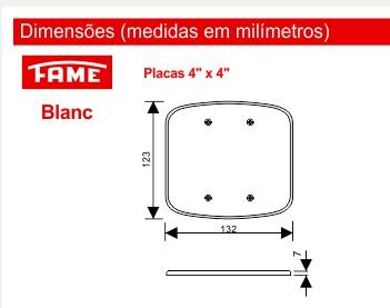 """Placa 4""""x4"""" F00"""