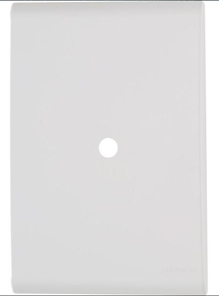 Placa com 1 Furo 9,5 mm 4x2 Liz - Branca