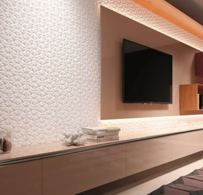 Porcelanato Fiori Bianco 32x60Cm