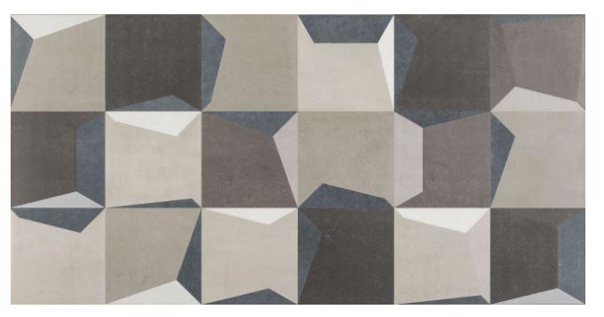 Porcelanato Munari Shadow Mix Blue 45x90Cm