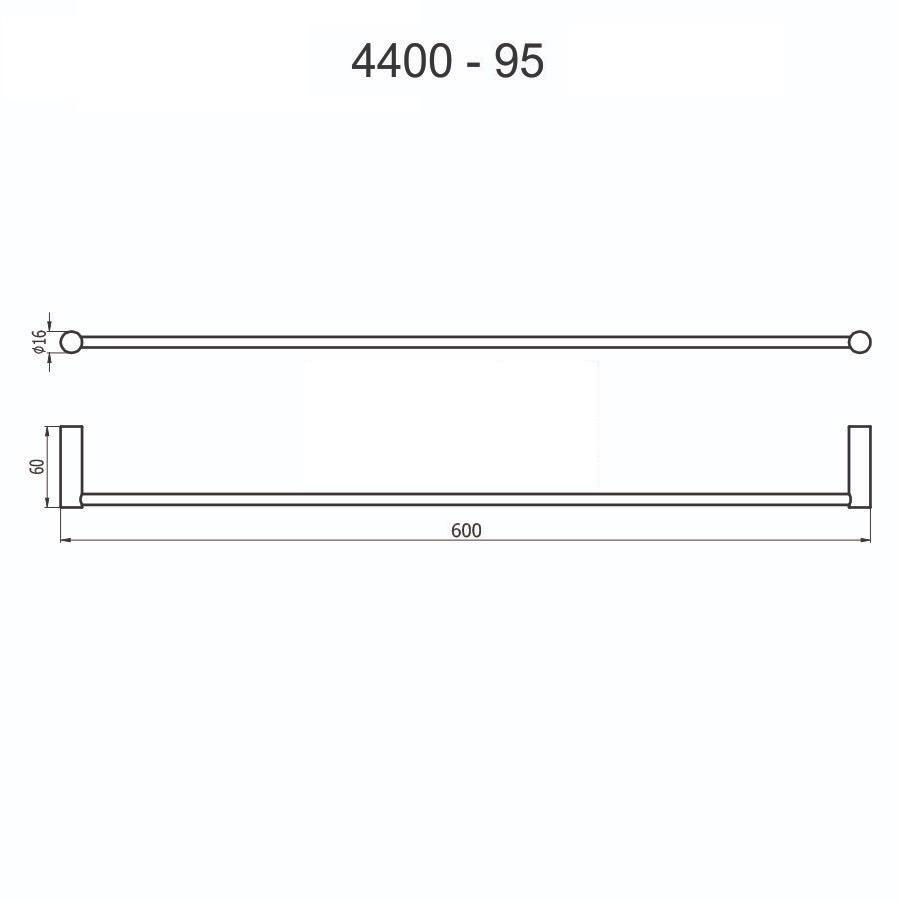 Porta Toalha 4400 C95 60cm