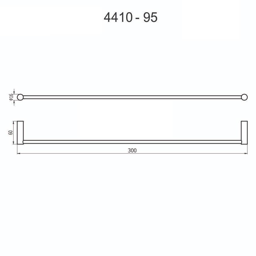 Porta Toalha 4410 C95 30cm