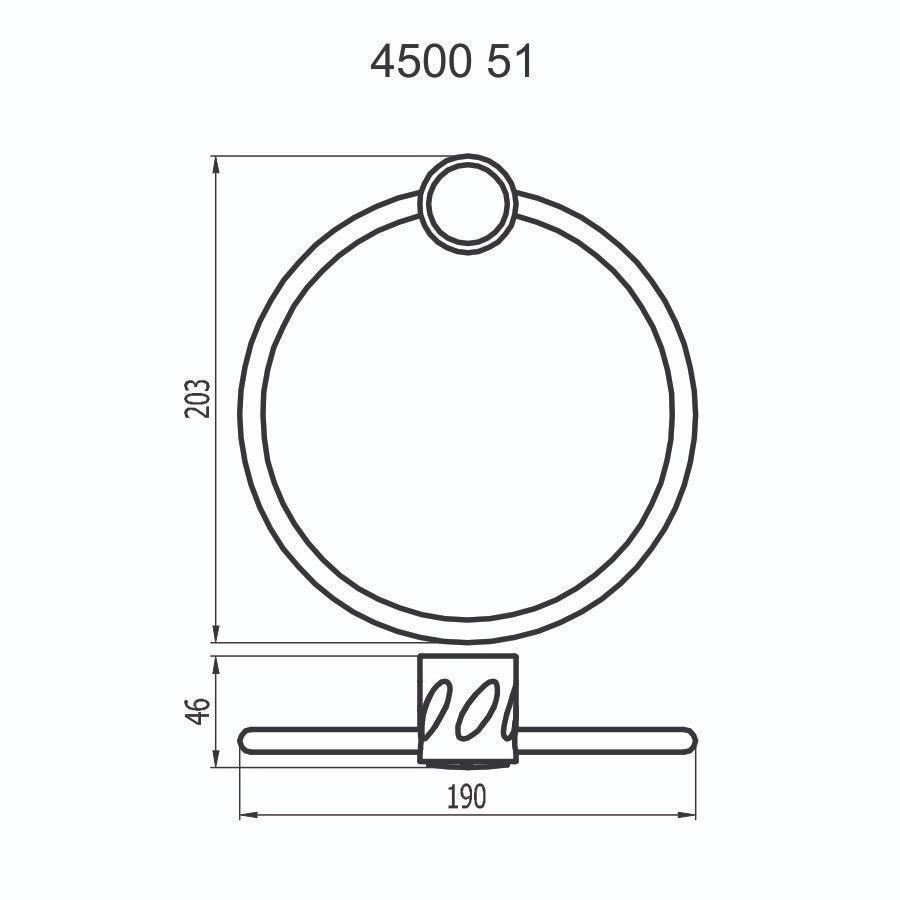 Porta Toalha Argola 4500 C51