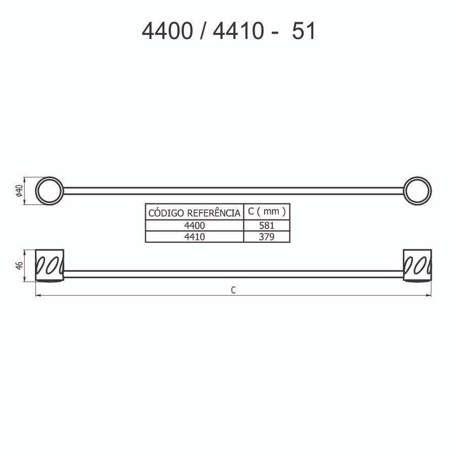 Porta-Toalha 4400 C51