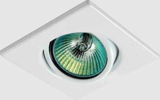 Spot de Embutir Quadrado Direcionável para Lâmpada Halógena ou Led Minidicróica