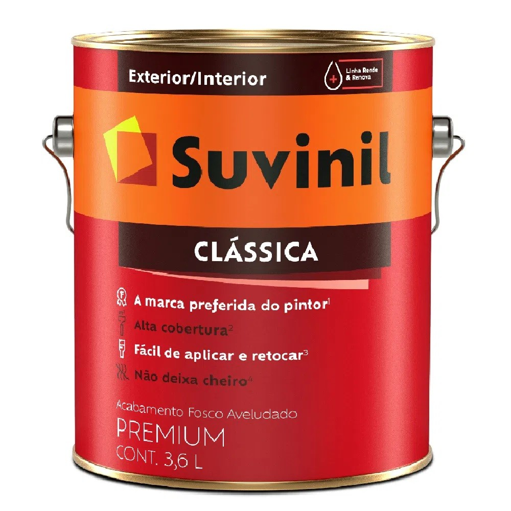 Tinta Clássica Premium Fosca 3,6L