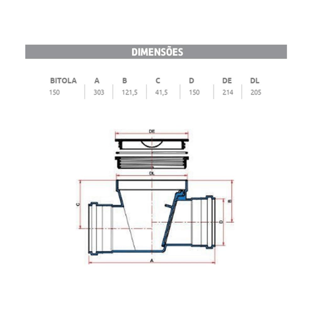 Válvula para Retenção de Esgoto 150mm - Branco