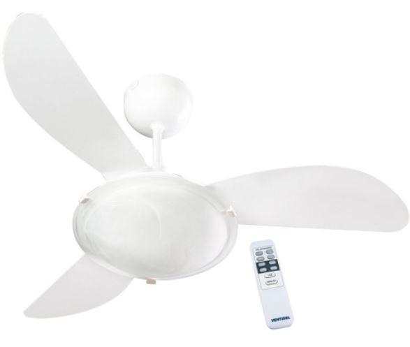 Ventilador Ventisol De Teto Sunny Com Controle 127v - Branco