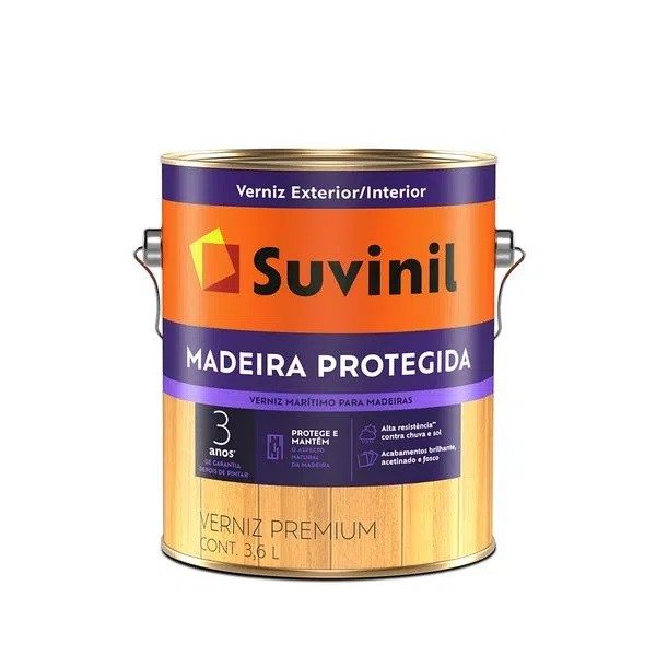 Verniz Madeira Protegida Fosco 3,6L