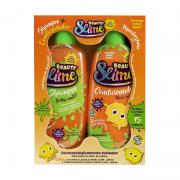 Kit Shampoo Condicionador Beauty Slime Laranja neon 200ml