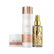 Kit Fusion Wella Professionals  & Oil Reflections  3 produtos