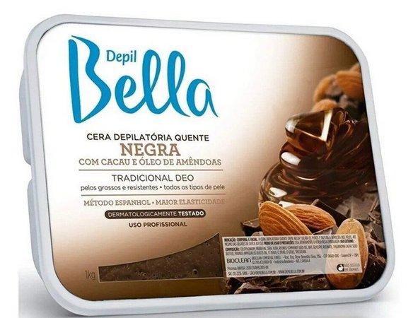 Cera Depill Bella Depilatoria Negra 500g
