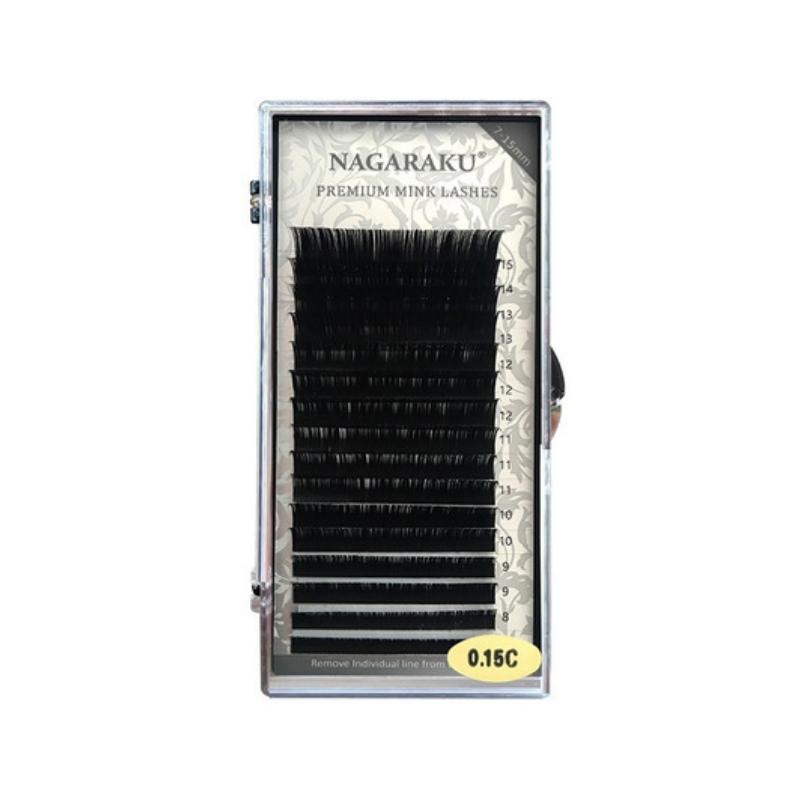 Cílios Nagaraku Mix Tam 0,15c Fio A Fio Premium Mink