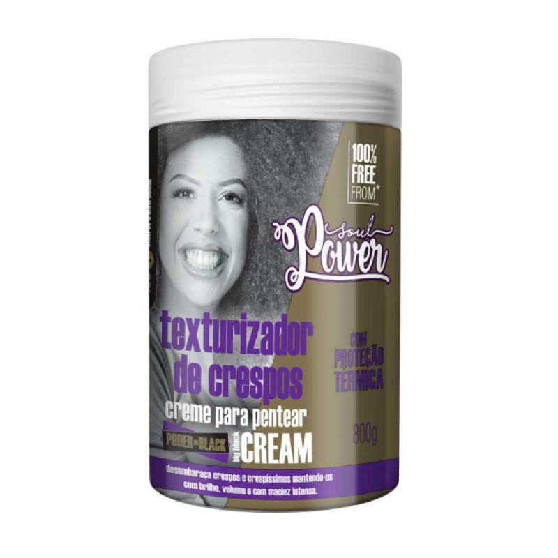 Creme De Pentear Soul Power Big Black Cream Texturizador 800ml