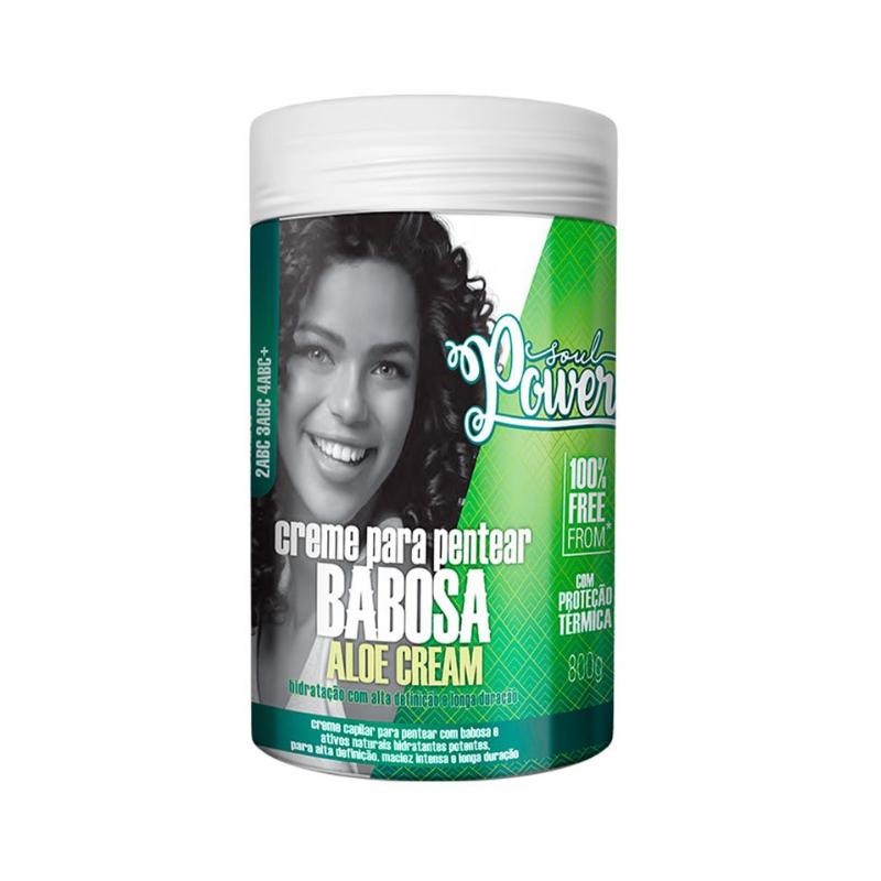 Creme Para Pentear Soul Power Babosa Aloe Cream 800g